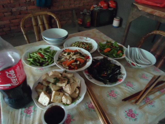सुरेख शाकाहारी चिनी जेवण