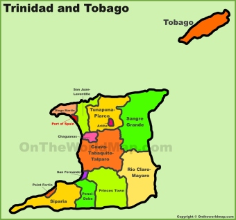 administrative-divisions-map-of-trinidad-and-tobago