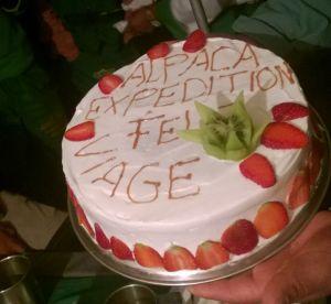 कॅंपसाईटवर तयार केलेला फ्रूट केक!
