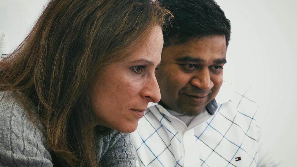 शशांक आणि त्याची बायको पॉलिन