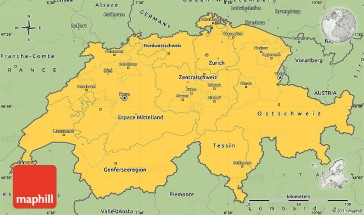 Savanna style simple map of Switzerland.